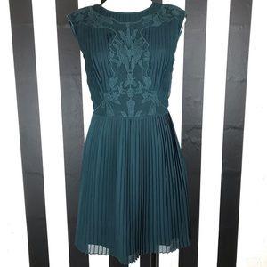 Ted Baker London Saskiah Green Pleated Lace Dress